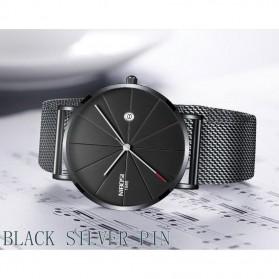 NIBOSI Jam Tangan Kasual Pria - 2321 - Black/Silver - 2