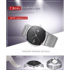 NIBOSI Jam Tangan Kasual Pria - 2321 - Black/Silver - 5
