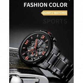 NIBOSI Jam Tangan Casual Sporty Pria - 2336 - Black/Silver - 3