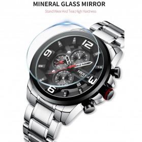 NIBOSI Jam Tangan Casual Sporty Pria - 2336 - Black/Silver - 8