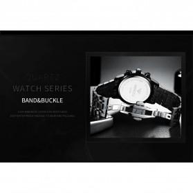 NIBOSI Jam Tangan Kasual Pria Stainless Steel - 2356 - Silver Black - 6