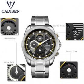 Cadisen Jam Tangan Analog Chrono Pria - C9051 - Silver - 6