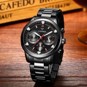 Cadisen Jam Tangan Analog Chrono Pria Stainless Steel Strap - C9011 - Black - 2