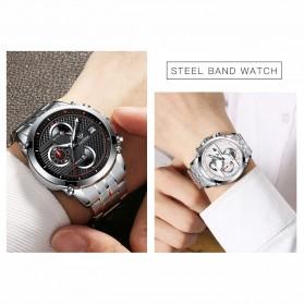 Cadisen Jam Tangan Analog Chrono Pria - C9018 - Silver - 5
