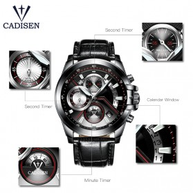 Cadisen Jam Tangan Analog Pria Strap Stainless Steel - C9016 - Black - 4