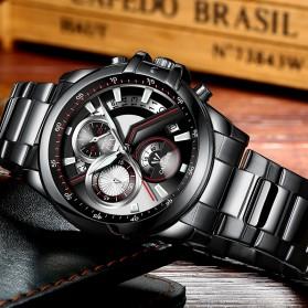 Cadisen Jam Tangan Analog Pria Strap Stainless Steel - C9016 - Black - 6