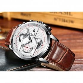 CADISEN Jam Tangan Chronograph Leather Pria - C9018 - Brown - 5