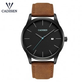 Cadisen Jam Tangan Analog Pria PU Leather - C2021m - Brown