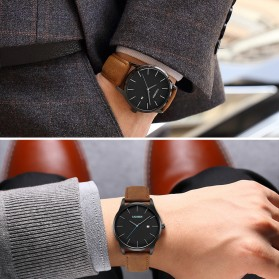 Cadisen Jam Tangan Analog Pria PU Leather - C2021m - Brown - 3