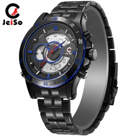 JeiSo Jam Tangan Digital Analog Pria - 1703 - Black/Blue