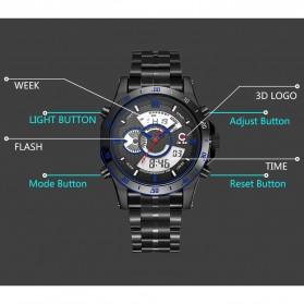 JeiSo Jam Tangan Digital Analog Pria - 1703 - Black/Blue - 3