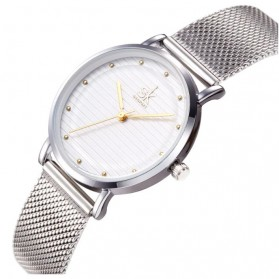 Shengke Jam Tangan Wanita Quartz Fashion - K0049 - Golden/Silver