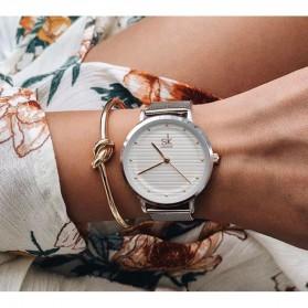 Shengke Jam Tangan Wanita Quartz Fashion - K0049 - Golden/Silver - 5