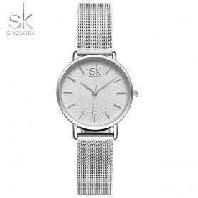 Shengke Jam Tangan Wanita Quartz Femme Stainless Steel - K0006 - Silver
