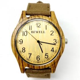 Trend Fashion Pria Terbaru - BEWELL Jam Tangan Bambu Analog Pria - ZS-W124B - Brown
