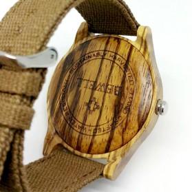 BEWELL Jam Tangan Bambu Analog Pria - ZS-W124B - Brown - 6