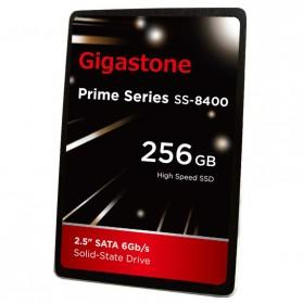 Gigastone Prime Series SSD Solid State Drive 2.5 Inch 256GB SATA III - SS8400 - Black