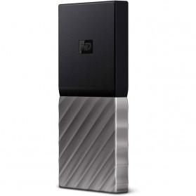 WD My Passport SSD Portable USB 3.1 Type-C 512GB - WDBKVX5120PSL - Silver Black