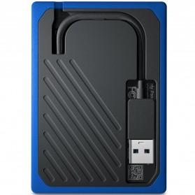 WD My Passport Go SSD Portable USB 3.0 1TB - WDBMCG0010BBT - Blue - 5