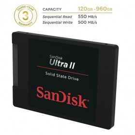SanDisk Ultra II SSD 480GB - SDSSDHII-480G - Black - 3