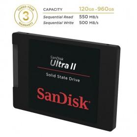 SanDisk Ultra II SSD 960GB - SDSSDHII-960G - Black - 3