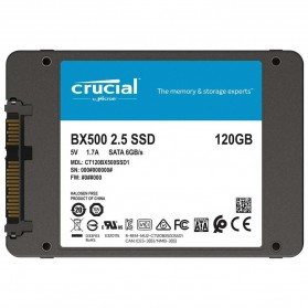Crucial SATA 2.5 Internal SSD 6GB/s 120GB - BX500 - Black