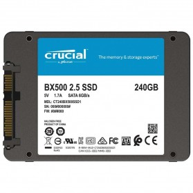 Crucial SATA 2.5 Internal SSD 6GB/s 240GB - BX500 - Black
