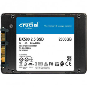 Crucial SATA 2.5 Internal SSD 6GB/s 2TB - BX500 - Black