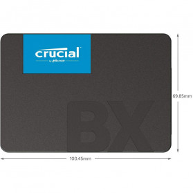 Crucial SATA 2.5 Internal SSD 6GB/s 2TB - BX500 - Black - 3