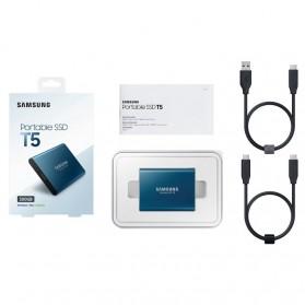 Samsung Portable SSD T5 500GB - MU-PA500B - Blue - 6