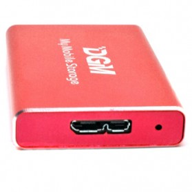 DGM My Mobile Storage External Portable SSD 128GB - Red - 3