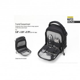 Nitecore NUP20 Tactical Utility Pouch - Black - 7