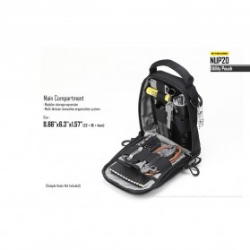 Nitecore NUP20 Tactical Utility Pouch - Black - 8