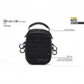 Nitecore NUP20 Tactical Utility Pouch - Black - 9