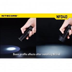 NITECORE Beam Diffuser Senter LED for Flashlights 40mm - NFD40 - Black - 3