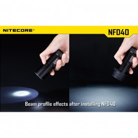 NITECORE Beam Diffuser Senter LED for Flashlights 34mm - NFD34 - Black - 3