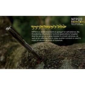 NITECORE Titanium Tactical Pen Self Defense - NTP20 - Silver - 6
