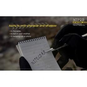 NITECORE Titanium Tactical Pen Self Defense - NTP20 - Silver - 7