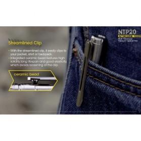 NITECORE Titanium Tactical Pen Self Defense - NTP20 - Silver - 8