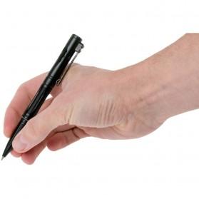 NITECORE Pena Pulpen Tactical Pen Self Defense CNC Aluminium - NTP21 - Black - 5