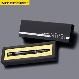 NITECORE Pena Pulpen Tactical Pen Self Defense CNC Aluminium - NTP21 - Black - 6