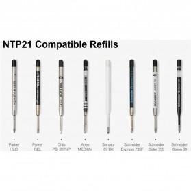 NITECORE Pena Pulpen Tactical Pen Self Defense CNC Aluminium - NTP21 - Black - 7