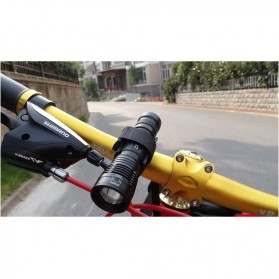 Sireck Bike Bracket Mount Holder for Flashlight - AB-2968 - Black - 4