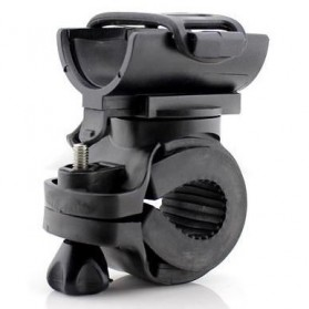 Aksesoris Senter LED - Bike Bracket Mount Holder for Flashlight - AB-2966 - Black