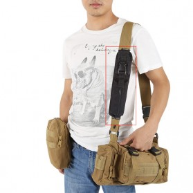Holster Molle Tactical Pouch Aksesoris Tas Ransel Backpack - 180921 - Black - 2