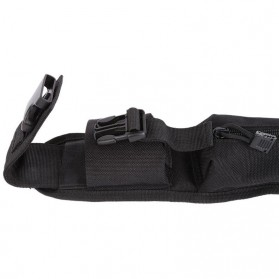 Holster Molle Tactical Pouch Aksesoris Tas Ransel Backpack - 180921 - Black - 7