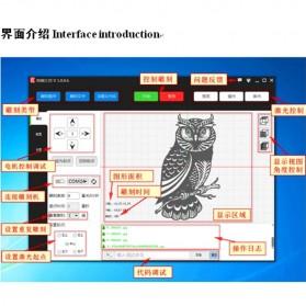 XINRUI Printer 3D Ukir Kayu Laser Engraving Machine Kit 500mW - DVP6550 - Black - 8