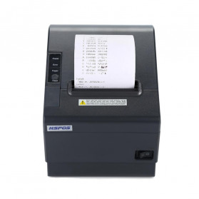 HSPOS POS Thermal Receipt Label Printer 80mm USB + WiFi + Bluetooth - HS-802UWB - Black - 2
