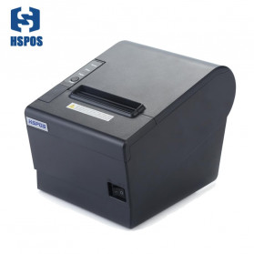 HSPOS POS Thermal Receipt Label Printer 80mm USB + Serial + LAN - HS-802USL - Black