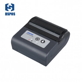 HSPOS Mini Portable Bluetooth Thermal Receipt Label Printer 80mm - HS-88AI - Black